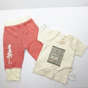 Organic Cotton 2 Piece Outfit Set Top Pants